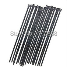 Min. Order $10(mix), Wholesale -8″ Black Self-Locking Plastic Cable Zip Ties Cable Loop Ties (100)