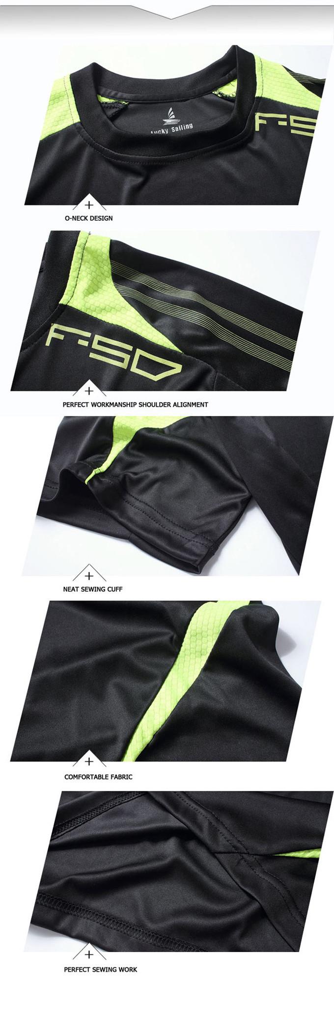 מזל הפלגה הטוב ביותר בתאילנד איכות חם מכירה 2015 ריצה חולצה יבש מהירה מקרית חולצות Tees&מקסימום Slim Fit ספורט חולצה