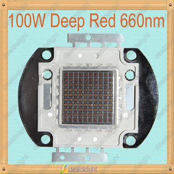 Freeshipping!100W 660nm Deep Red Color Epiled  High Power LED Lamp Light 6000LM For Plant Growing