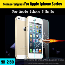 Ultra Thin 0.3mm 2.5D 9H Premium Explosion-Proof Tempered Glass Screen Protector For iPhone 5 5S 5c HD Toughened Protective Film