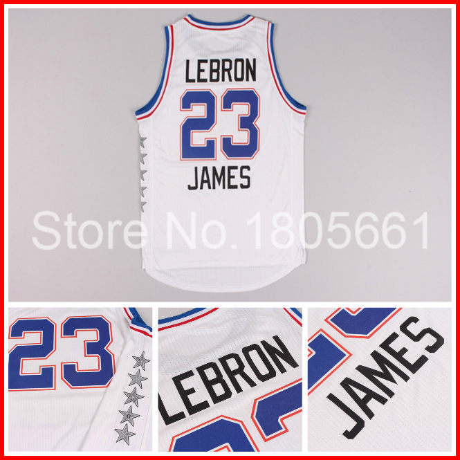 2015 All Star Game Eastern #23 LeBron James White Basketball Jersey, 2015 All Star Basketball Jersey and Short Free Shipping(China (Mainland))