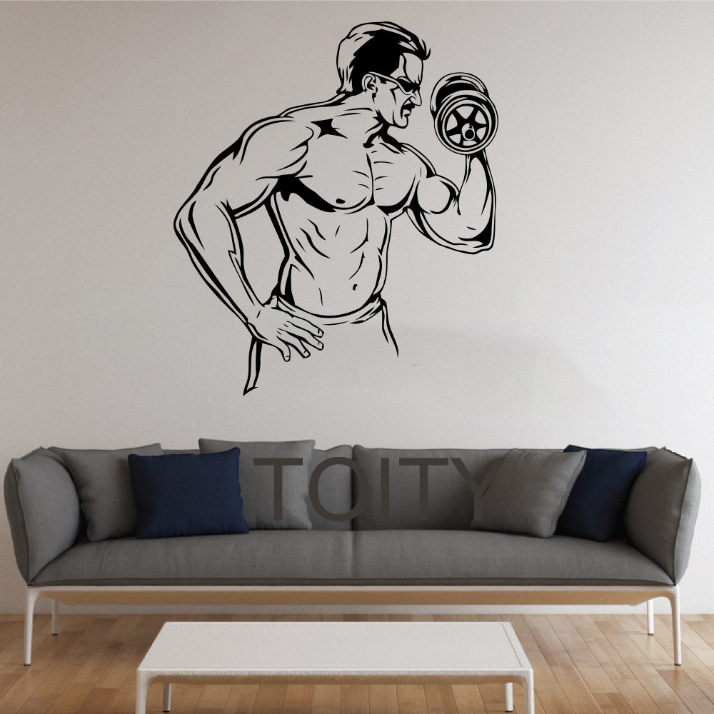 Bodybuilder Wall Stickers GYM Vinyl Decals Home Room ...