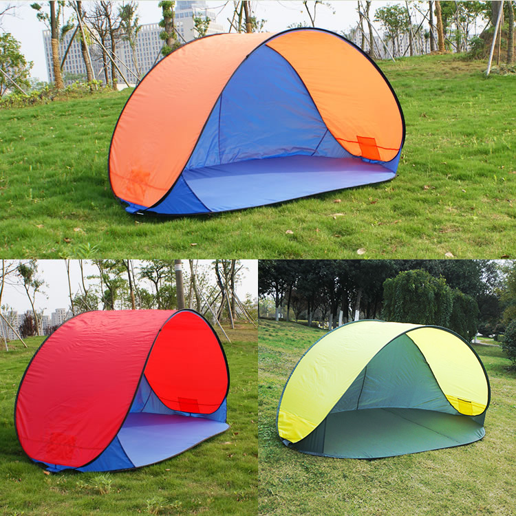 Fully-automatic 3 - 4 persons outdoor beach tent sun-shading beach folding sunscreen