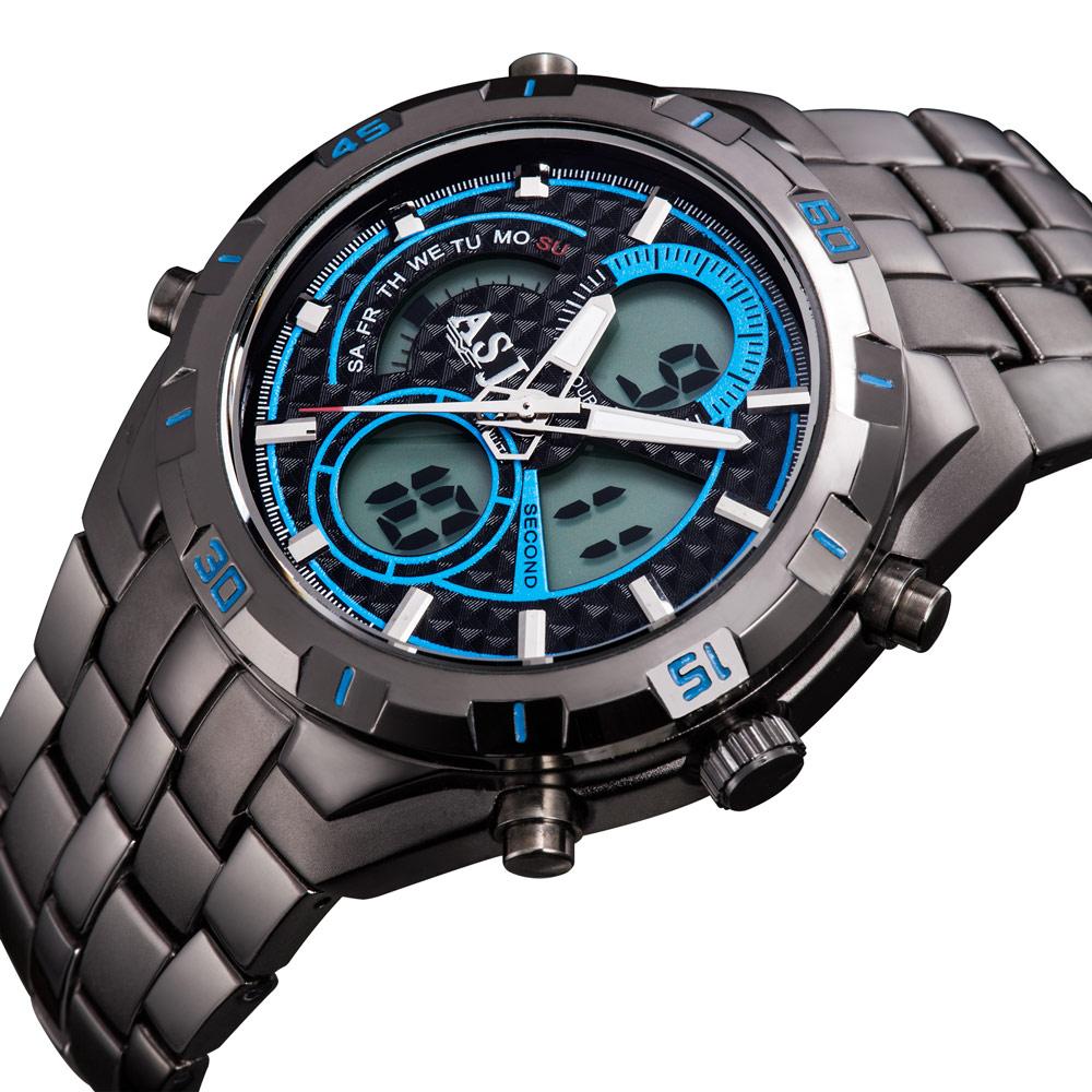 2015 new fashion stylish sport water resistant sport function clock army LED digital steel strap men military wrist watch 011<br><br>Aliexpress