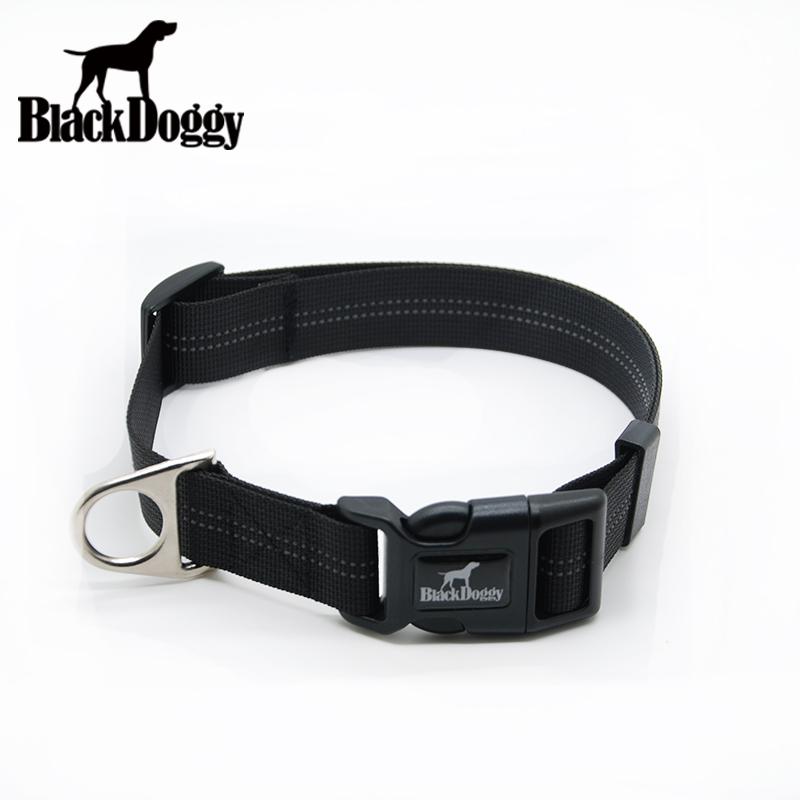 BlackDoggy Big/Large Size Adjustable Pet Dog Outdoor Soft Webbing Nylon Pet Dog Collars With Antirust Buckle VC15-CL003(China (Mainland))