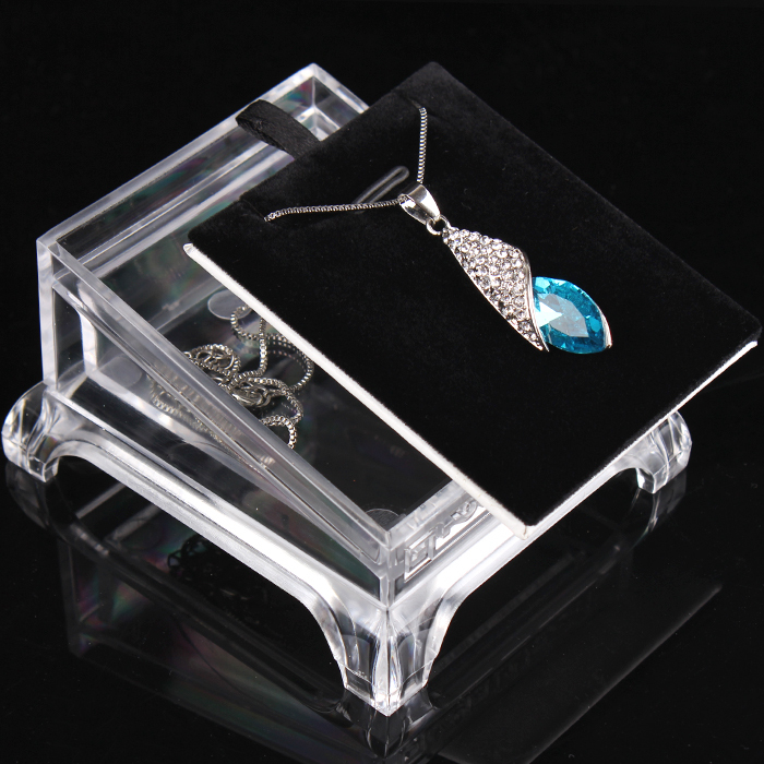 Small stand pendant necklace drop chain display charms stand acrylic 8*7 cm 55g Pack of 5 pcs(China (Mainland))