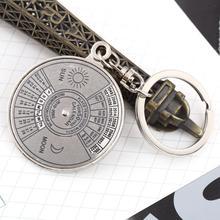 1pc High Quality Super Perpetual Calendar Unique Metal Key Chain Ring 50 Years Keyring KeyChain
