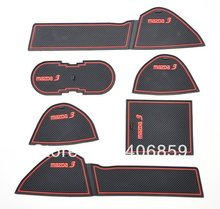 2010-2012 Mazda 3 High quality Silica gel Gate slot pad,Teacup pad,Non-slip pad(6 pcs) ce ,car styling(China (Mainland))