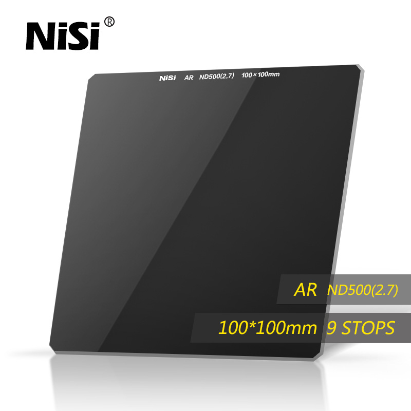 NiSi ND500 100*100 Camera Filter Square ND Filter Optical Glass Double Side Ultra Coating For Under 82mm Lens Free Shipping(China (Mainland))
