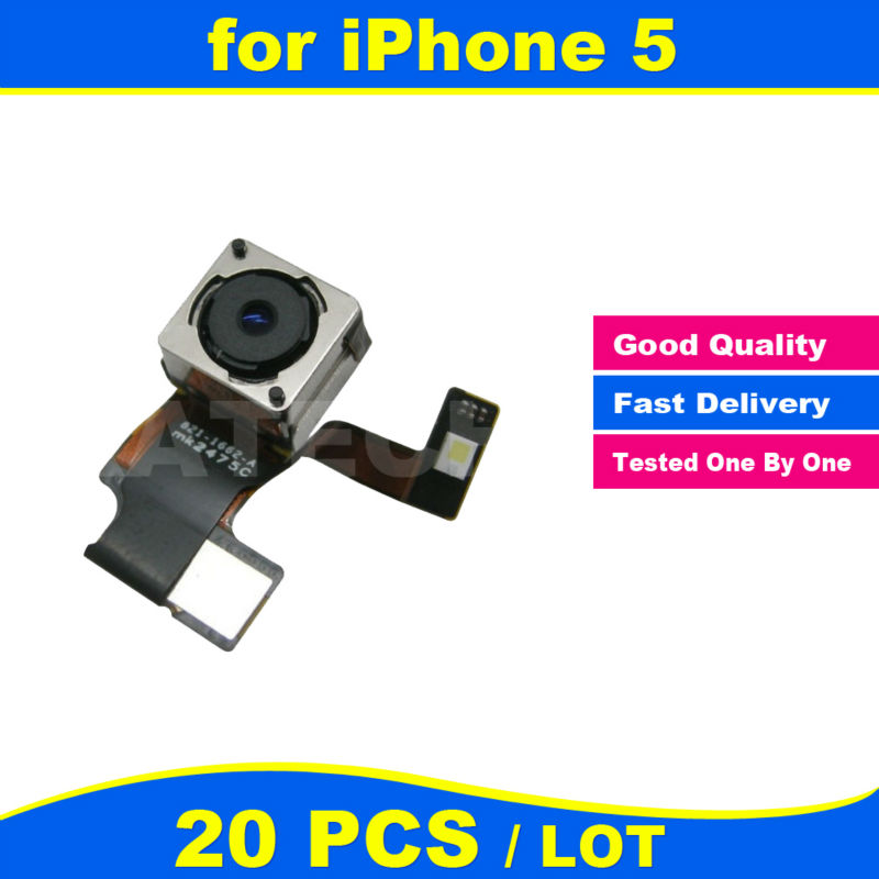 FREE SHIPPING X 20 PCS LOT 8 0 MP Original for iPhone 5 5G Back Rear