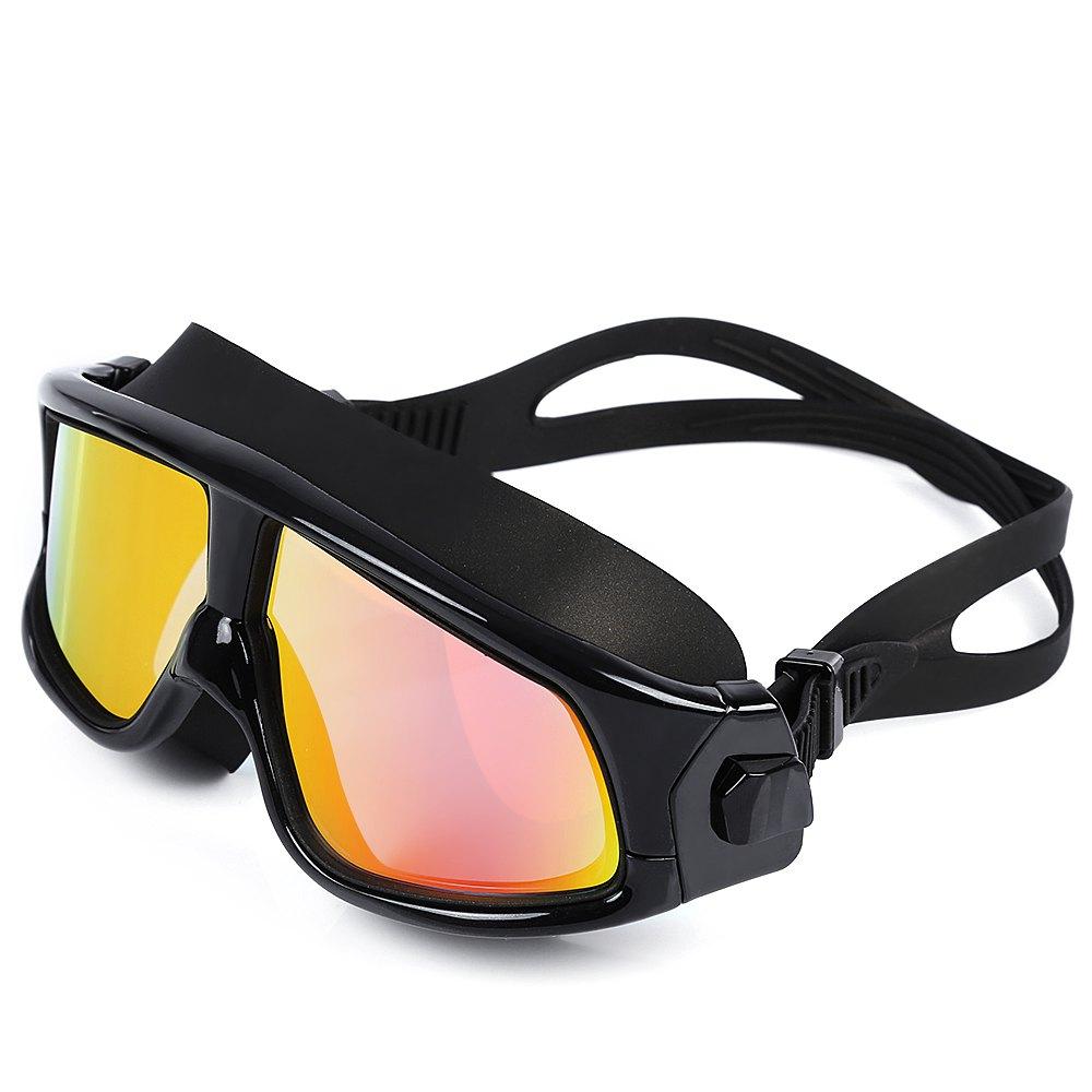 Comfortable Silicone Large Anti-fogging UV Swim Diving Goggles Glasses with Big Frame Swim Mask Waterproof(China (Mainland))