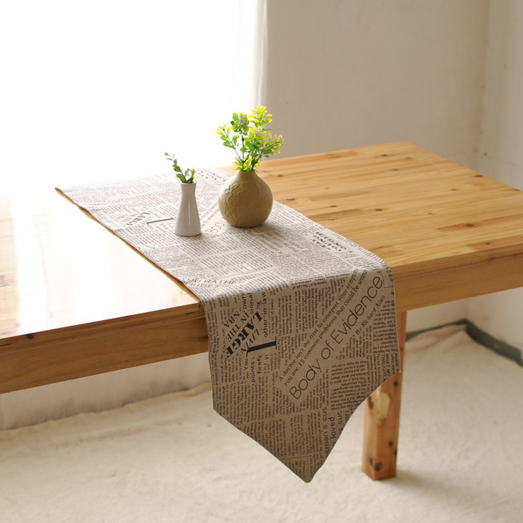 Cotton retro nostalgia table flag factory direct double-sided coffee table runner kitchen home decoration(China (Mainland))