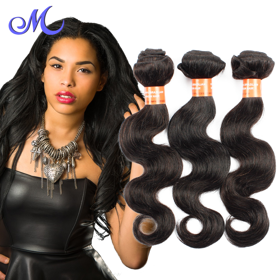 Rosa Hair Products Brazilian  Body Wave Unprocessed Brazlian Body  Wave 3 Bundles Natural Hair  Human Hair Weave Tangle Free <br><br>Aliexpress