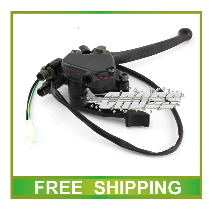 50cc 110cc 125cc 200cc 250cc ATV QUAD throttle thumb accelerator with front brake lever parking lock accessories free shipping<br><br>Aliexpress