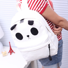 stacy bag women canvas backpack girls cartoon panda small bag female kids cute casual messenger children bag school bag(China (Mainland))