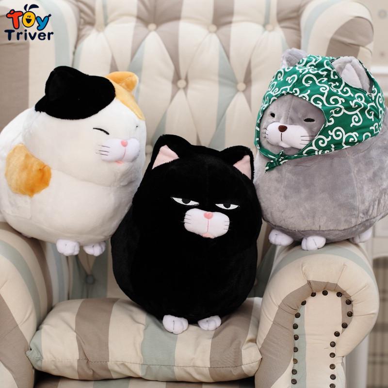 Triver Toy kawaii stuffed plush japan fortune cat toy doll baby girl boy kids birthday gift shop deco Maneki Neko free shipping(China (Mainland))