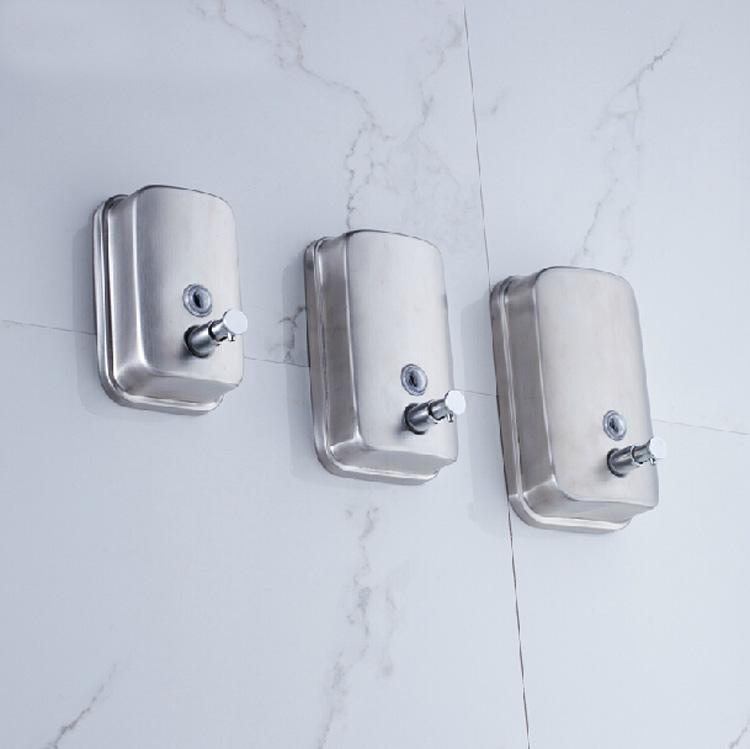 500/800/1000ML Wall Mount Soap Sanitizer Bathroom Washroom Shower Shampoo Dispenser Bath Hardware Sets(China (Mainland))