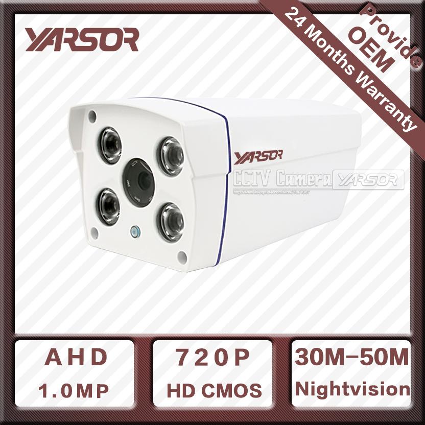1.0 MP Home CCTV Cameras Yarsor AHD4100UC-E HD 720P 4 Array LEDs Night Vision Outdoor Analog Camera HD Waterproof Free shipping(China (Mainland))