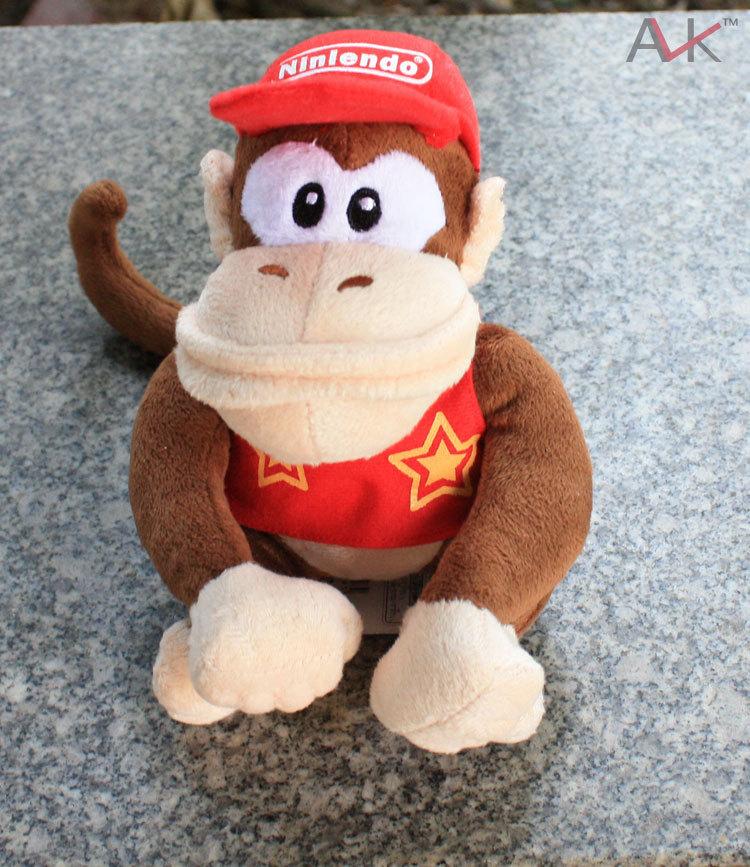 Hot Toys super mario bros plush dolls Plush toys Soft kawaii pp cotton 20cm Red Hat Monkey(China (Mainland))