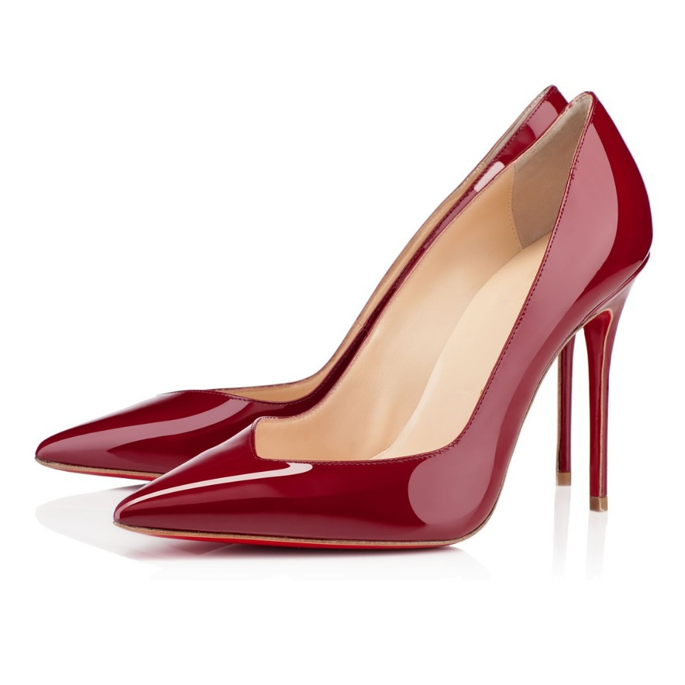 Deep Red Heels - Qu Heel