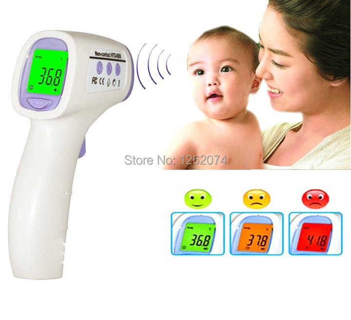 Free Shipping !! NEW Baby/Adult Digital Multi-Function Non-contact Infrared Forehead Body Thermometer gun X10062(China (Mainland))