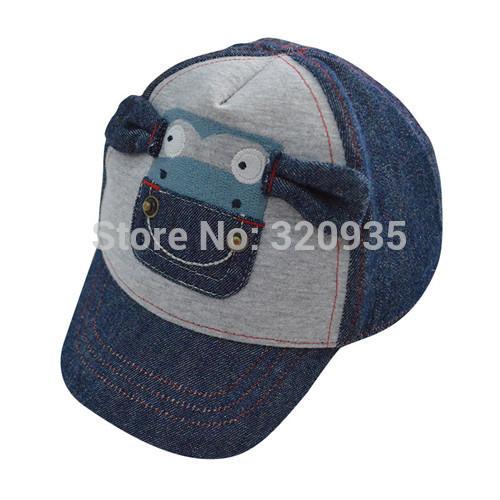 1pcsFree Shipping 2015 Baby boy cartoon sun baseball cap Knitting cowboy cotton children baby Baseball Cap / kids hat(China (Mainland))