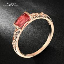 DFR368 Vintage Ruby Rings 18K Rose Gold Plated/Silver Tone Fashion Brand Retro Crystal Ring Imitation Gemstone Jewelry For Women(China (Mainland))