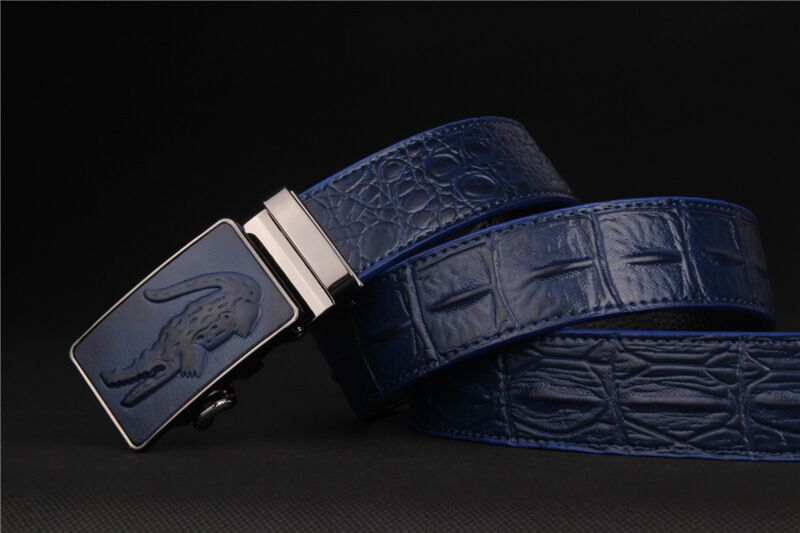 2015 New Fashion crocodile automatic buckle genuine leather men belt brand cow designer strap male belts for men TY18(China (Mainland))