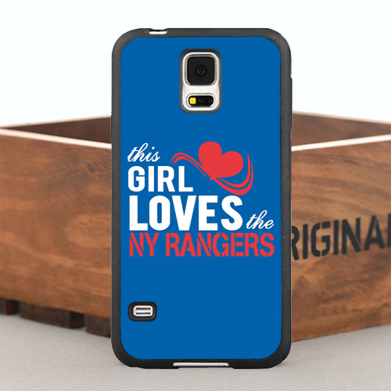 The Girl Loves NY Rangers TPU Case for iPhone 5 5S 6/6s Plus and Case for Samsung Galaxy Note2 3 4 5 S4 S5 S6 Edge Plus S7 Edge(China (Mainland))