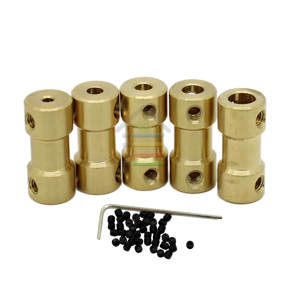 10pcs 2 3 3.17 4 5 to 3.17 mm Brass Shaft Motor Flexible Coupling Coupler length 20mm Hobby Hand Tool<br><br>Aliexpress