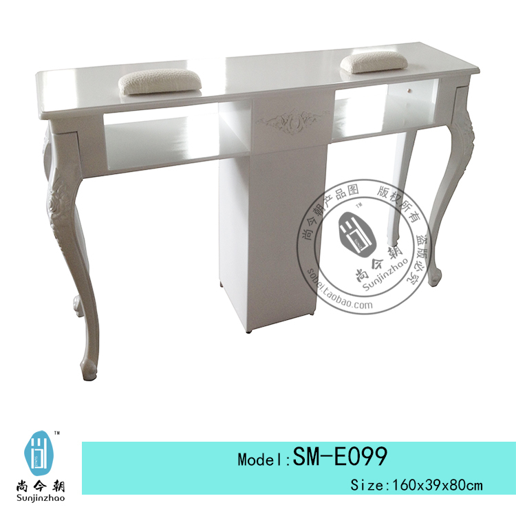 White Manicure Station White Nail Manicure Table