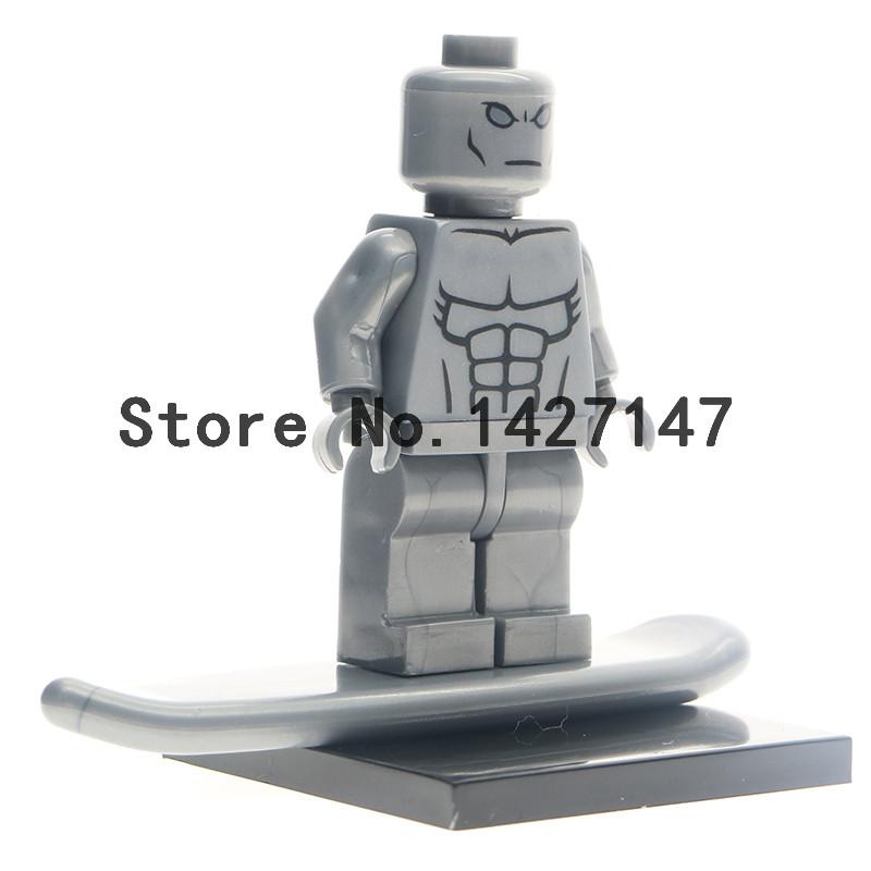 Single Sale XH177 DC Marvel Super Heroes The Silver Surfer Minifigures  self-locking Assemble Building Blocks Kids Toys<br><br>Aliexpress