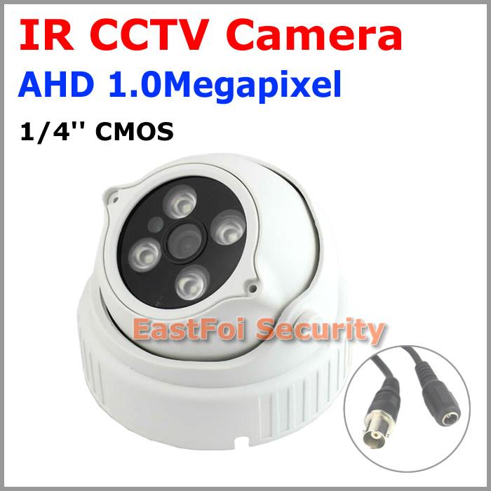 "1/4""CMOS 1.0Megapixel AHD Dome Camera 4units IR Leds Built-in IR Cut Good Night Vision Home Security AHD 720P CCTV Camera(China (Mainland))"
