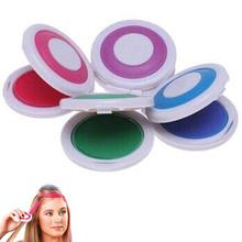 1 Set 4 Colors Hair Dye Temporary Hair Chalk Powder Soft Salon Hair Color DIY Chalks for The Hair(China (Mainland))