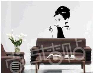 Audrey Hepburn 60*95cm Qoute Wall Sticker PVC Wall Decal For Diy Craft Vinyl Home Decor Living Room Decoration 60*95cm Free Ship