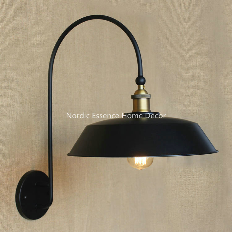 Nordic Creative LOFT American rural country iron balcony aisle retro Circular Industrial stairs tearoom living room wall sconce<br><br>Aliexpress
