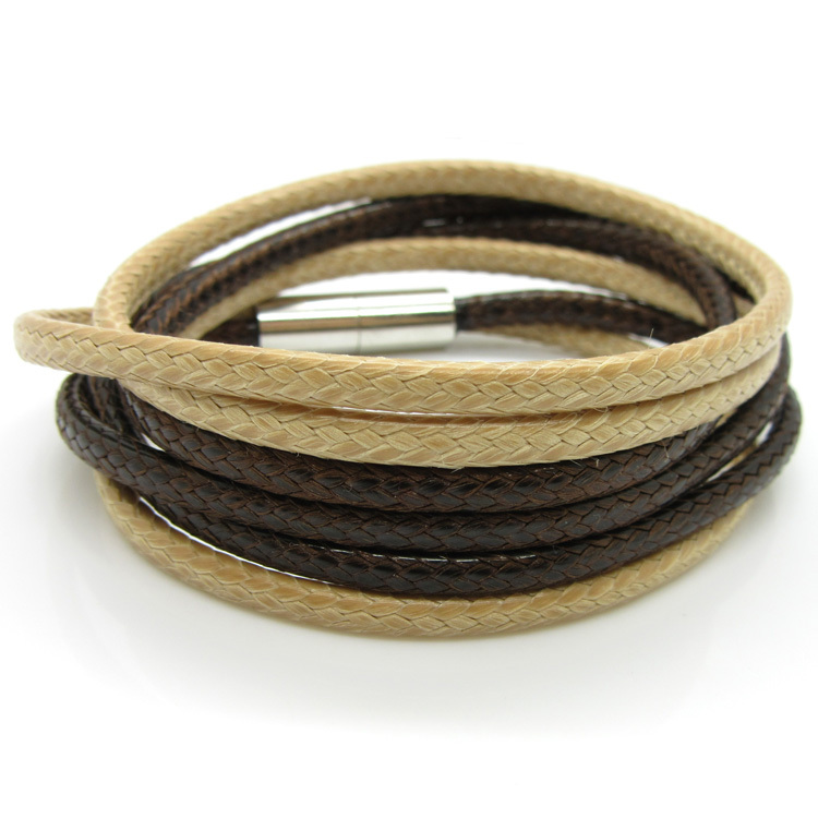 NEW HOT Personality Snake Nylon Leather Bracelet Fashion Warp Multilayer Charm Men And Women Bracelets Bangles