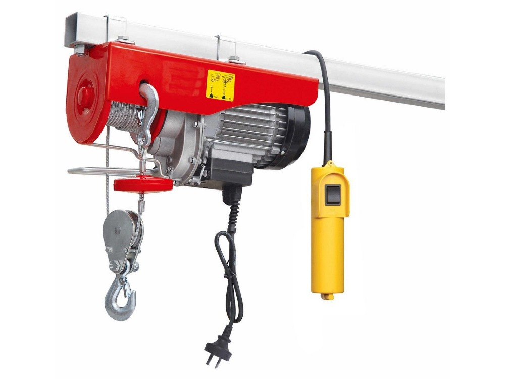 Wireless Remote Control Type Mini Electric Hoist Winch With Upper and Lower Limit Switch 220V 50Hz Max Capacity 1000kg(China (Mainland))