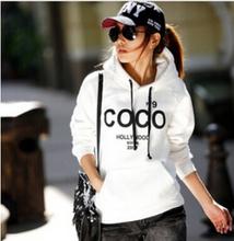 Women's Hooded Sweatshirts Outwear Hoodies Women Ladies Fashion Cartoon Coat Winter Clothes S,M,L,XL(China (Mainland))