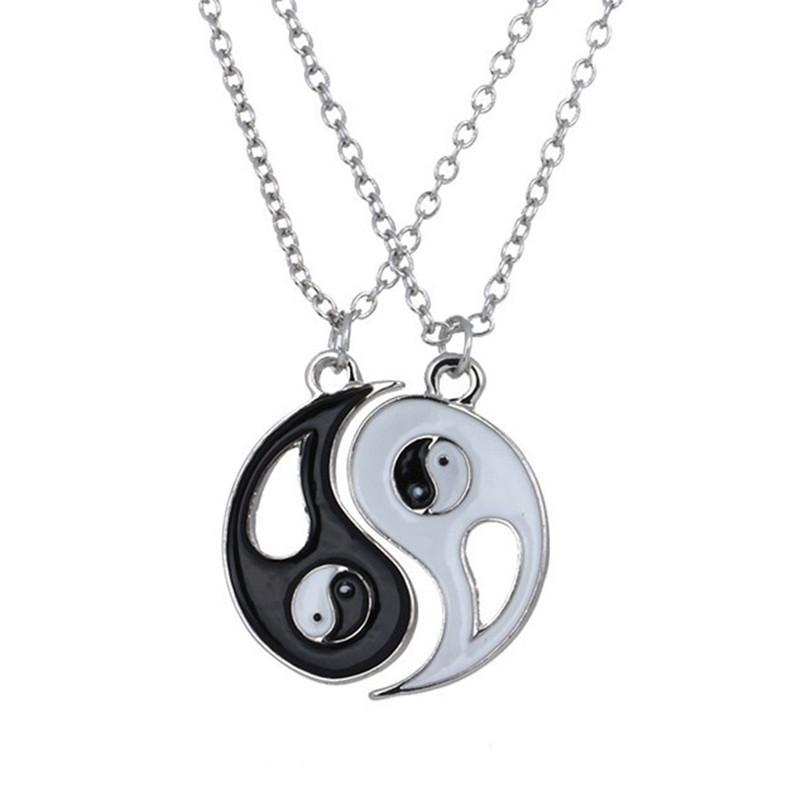 2015 fashion alloy necklace yin yang chi pendant