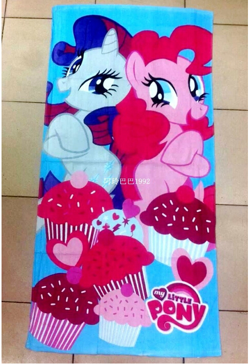72 * 146 cm export original single beach towels My little pony rainbow cotton bath towel cartoon toalla playa Towels(China (Mainland))