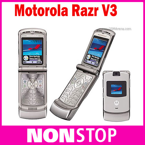 100% GOOD quality Refurbished Original Motorola Razr V3 mobile phone one year warranty(China (Mainland))