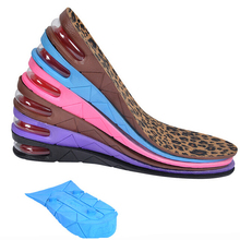3 Layers 7CM Height Increase Insole Shoes Air Cushion Invisible Lift Pads Heel for men women(China (Mainland))