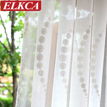 Elegant Wave Embroidered White Tulle Curtains for Living Room Sheer Curtains for Kitchen Modern Curtains for Bedroom Drapes(China (Mainland))