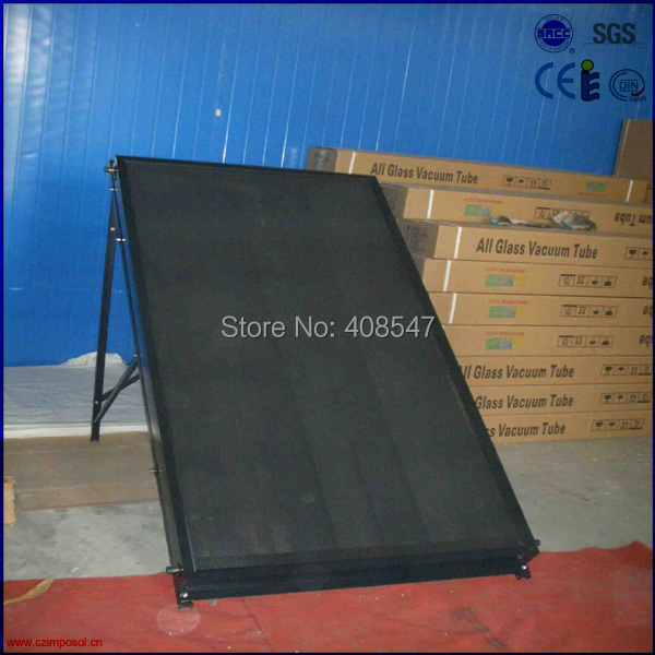 slope roof black chrome flat panel solar collector(China (Mainland))
