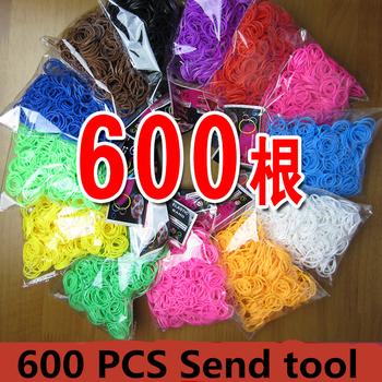 2015 горячая распродажа 600 шт. стиль коробка мода дети любимый резинки для браслетов машина для плетения резинки, резинки для плетенки