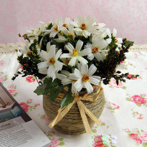 1x artificial chrysanthemum bouquet floral decor fake