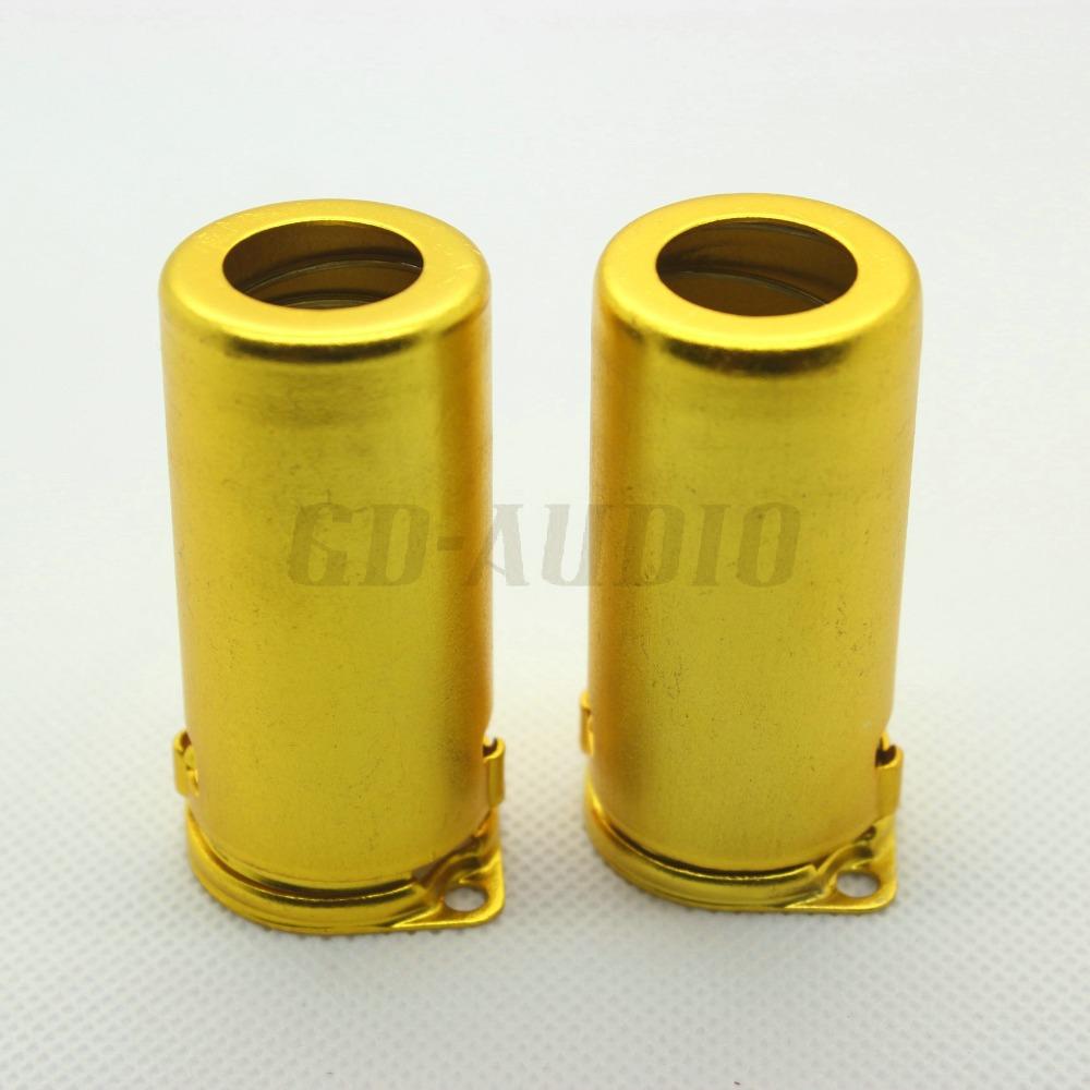 2pcs Aluminum Yellow Tube Shield for 9PIN Tubes(China (Mainland))