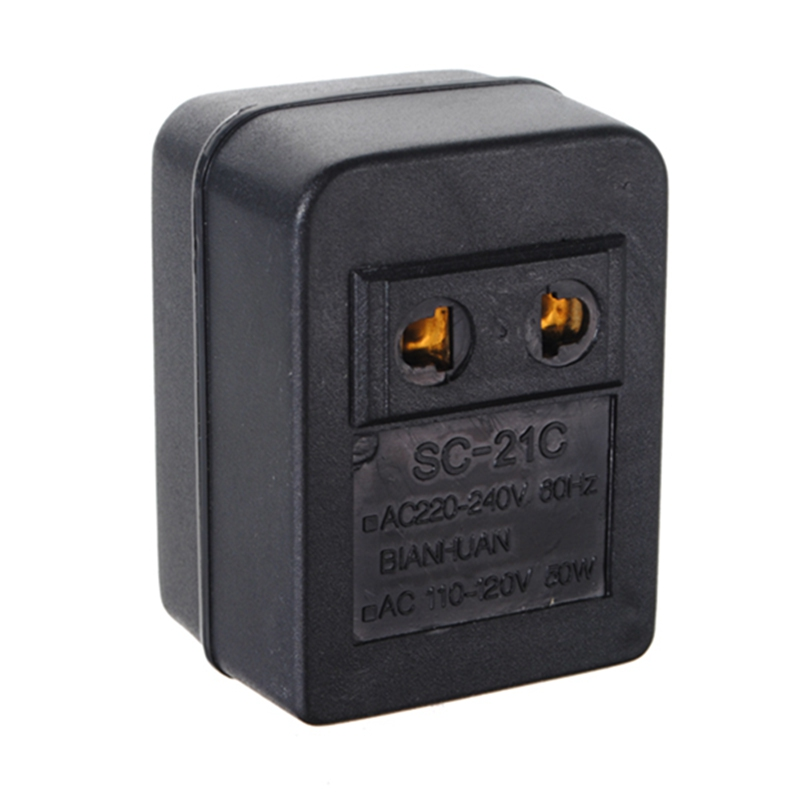 Newest Hot US Japan Canada Brazil AC 220V to 110V AC Power Voltage Converter 50W Adapter Travel Transformer Promotion(China (Mainland))