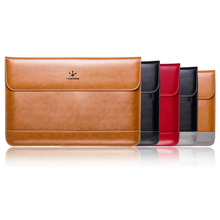 "Premium Real Genuine Leather Flap Sleeve Bag Case Notebook Cover Pouch for MacBook 11"" 12"" 13"" 15"" Air Pro Retina Laptop Tablet(China (Mainland))"